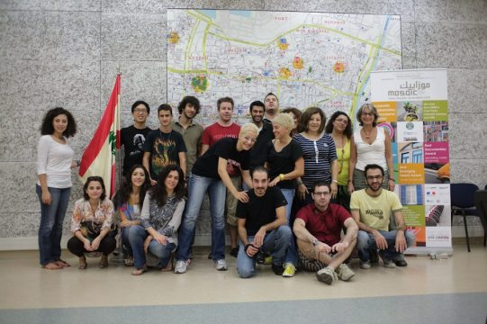 Group photo of street photography workshop attendees in Beirut, Lebanon. 2011