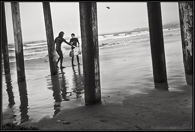 """""""Surf's up"""" - Keith Chastain. Pismo Beach"""