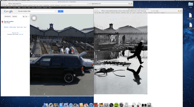 Henri Cartier-Bresson Behind the Gare Saint-Lazare Then And Now