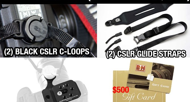FREE GIVEAWAY: Win 2 Custom SLR Packages and $500 Giftcard to B&H Photo (worth over $800!)