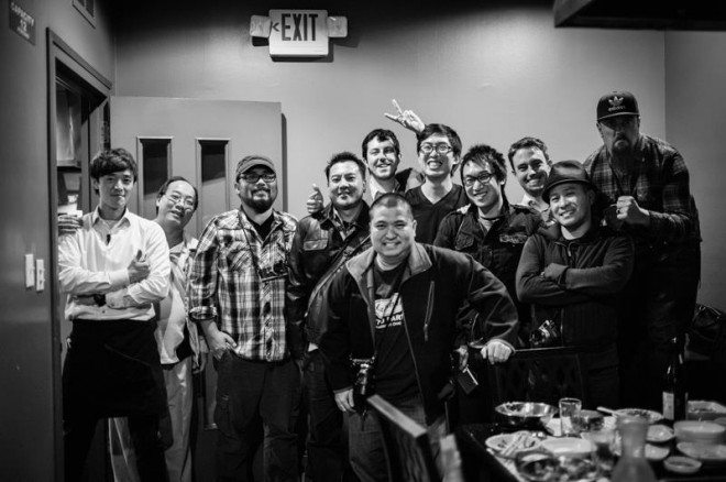 With some of my fellow LA Streettogs eating Korean BBQ! Good times.