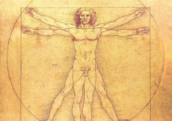 "Leonardo da Vinci'a ""Vitruvian Man."" Was it the ghost of inspiration that dro"
