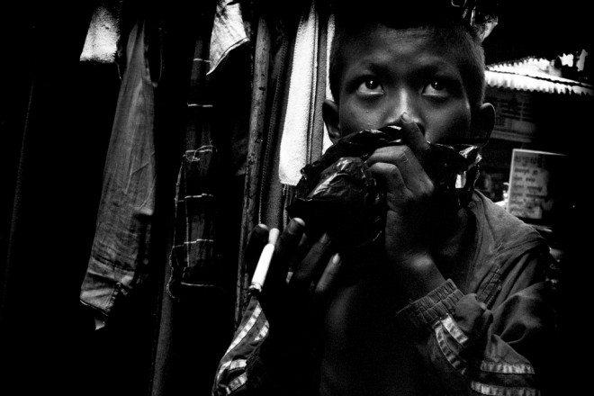 Kid Sniffing Glue,  Street 51 slums.
