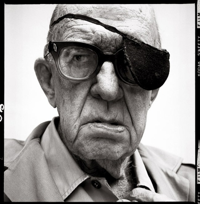 I think this portrait of John Ford, film director shows more about Avedon's vision than who Ford really was. Copyright: Richard Avedon / Bel Air, California, 1972.