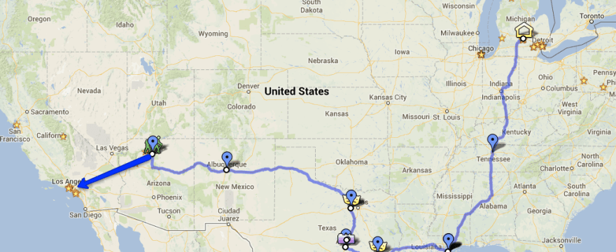American Road Trip Itinerary 2013