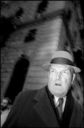 USA. New York City. 1993. Businessman on Fifth Avenue. © Bruce Gilden / Magnum Photos
