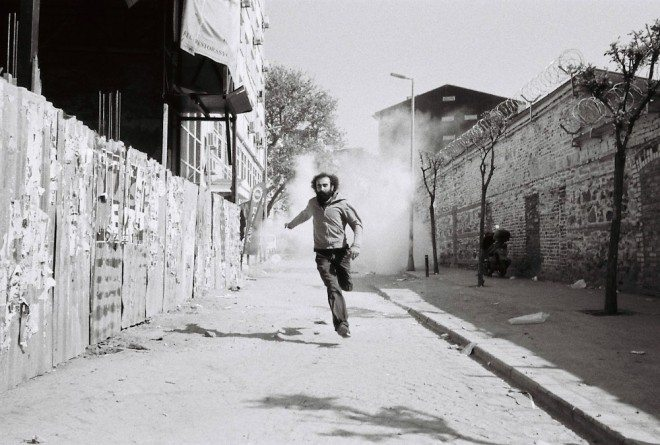"Photo by Charlie Kirk. From his ""Violence around Gezi"" series."