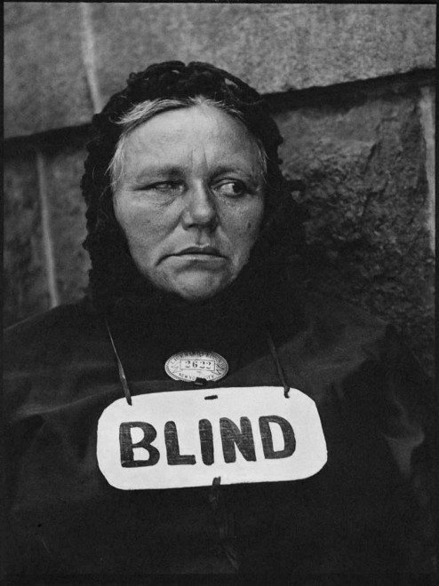 """Blind woman"" by Paul Strand"