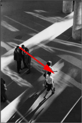 Figure 1: If you follow the gaze of the men - they direct you to the women in a diagonal manner.