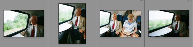 Contact sheet of all the photos I took of this man.