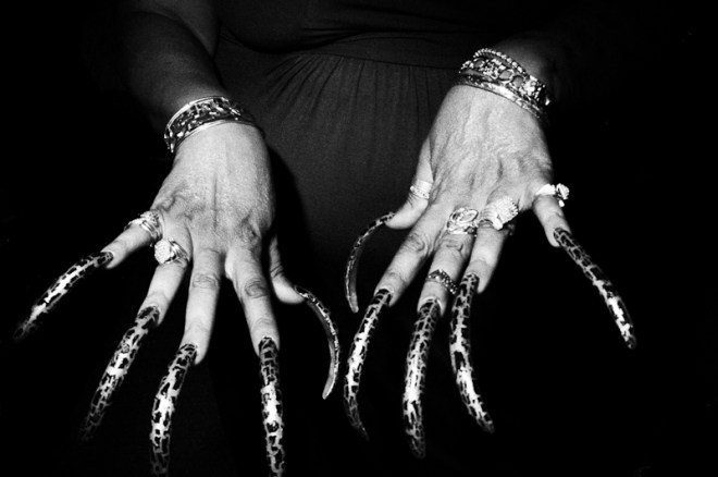 Downtown LA, 2012. Sometimes just by focusing on the hands, you can make a more powerful image.
