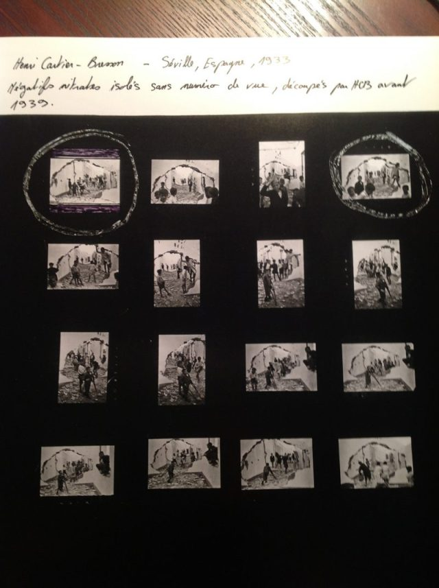 Contact sheet from Henri Cartier-Bresson in Seville, Spain, 1933. © Henri Cartier-Bresson / Magnum Photos