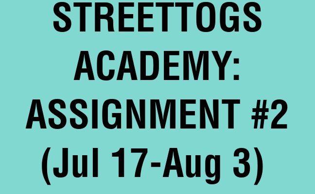 Streettogs Academy Assignment No. 2