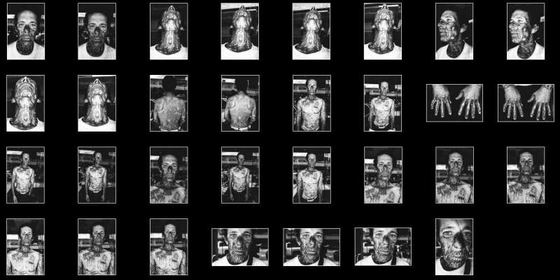 Street Photography Contact Sheets #1: Face Tattoo, Downtown LA 2014