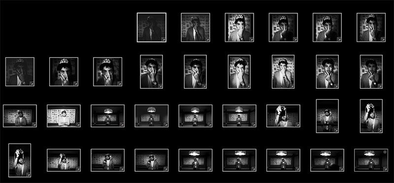 Contact sheet of photos I took of Josh