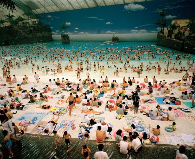 Martin Parr, Miyagazi, the artificial beach inside the Ocean Dome, 1996