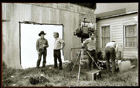 "Richard Avedon shooting portraits for ""In the American West"""