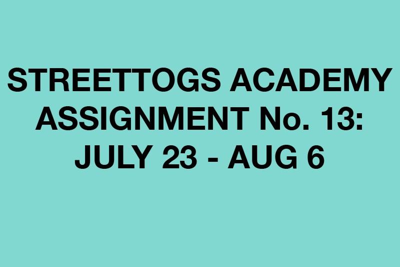 Streettogs Academy Assignment No. 13