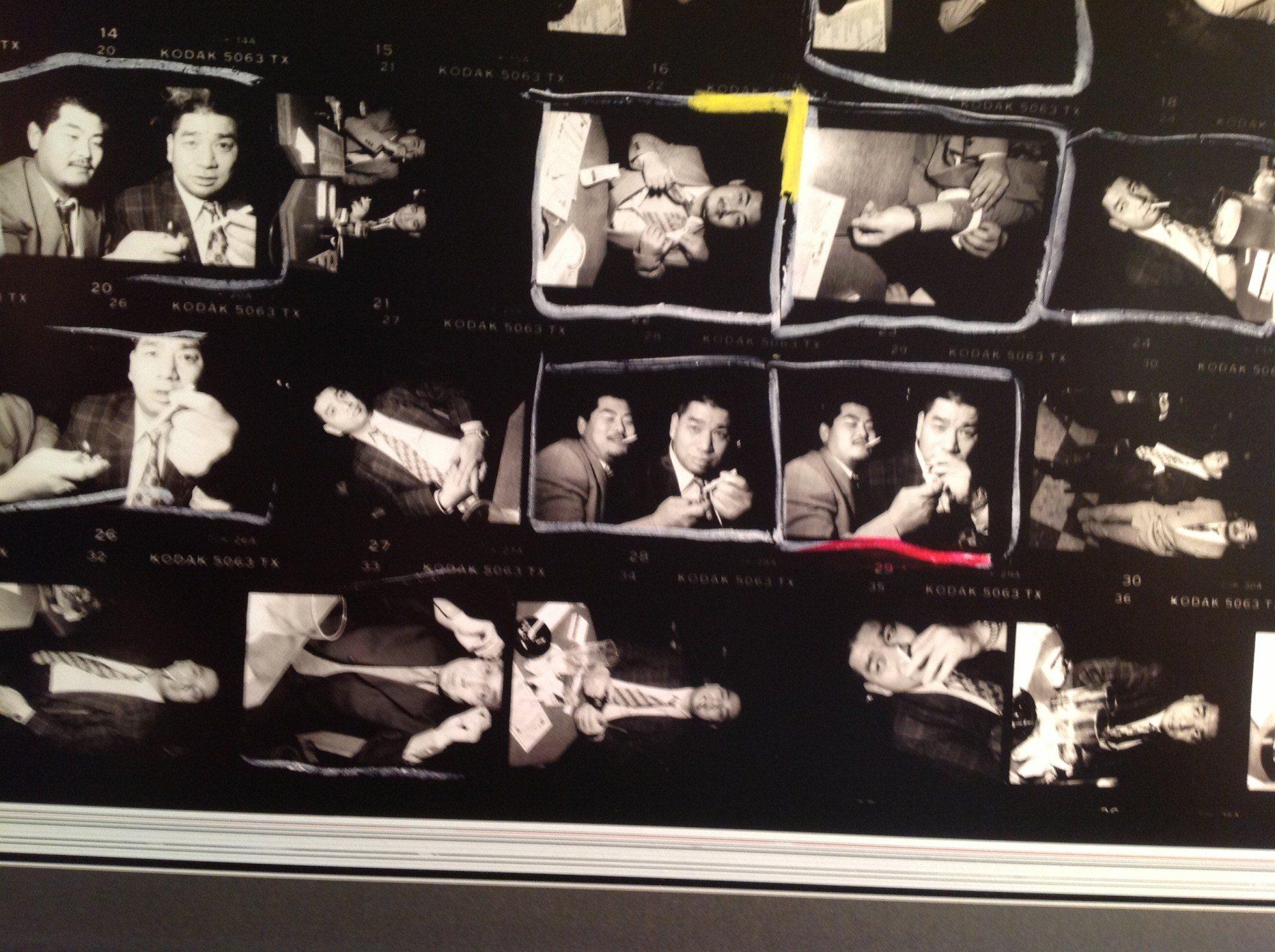"""Contact sheet of Bruce Gilden, """"Yakuza"""", Tokyo, Japan, 1998. © Bruce Gilden / Magnum Photos"""