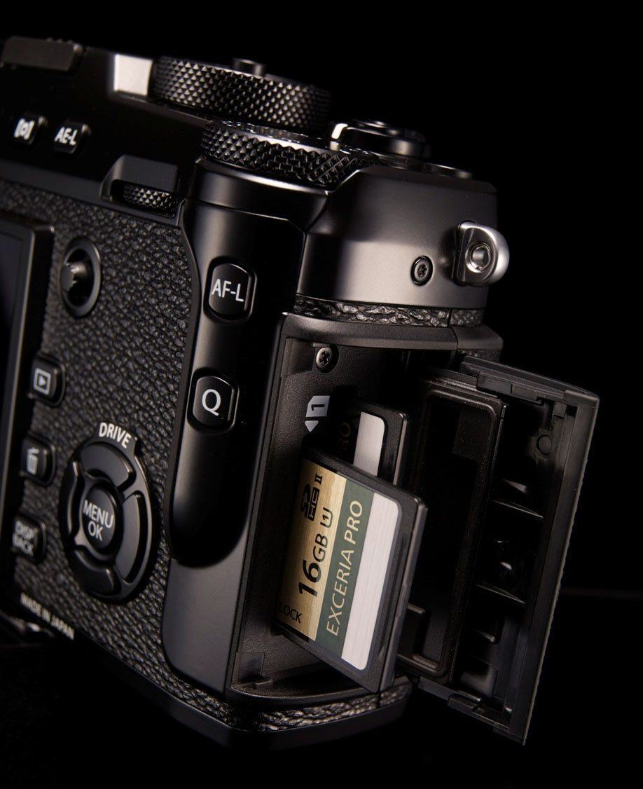 The new dual SD card slot for the X-Pro 2. Professional photographers will like this.