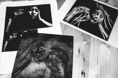 Between digital and analog: handmade linoleum prints of Eric Kim's #cindyproject by Cindy Nguyen