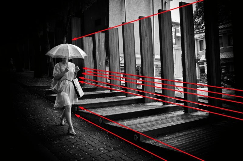 eric-kim-street-photography-leading-lines-composition-umbrella-seoul-2009-black-and-white