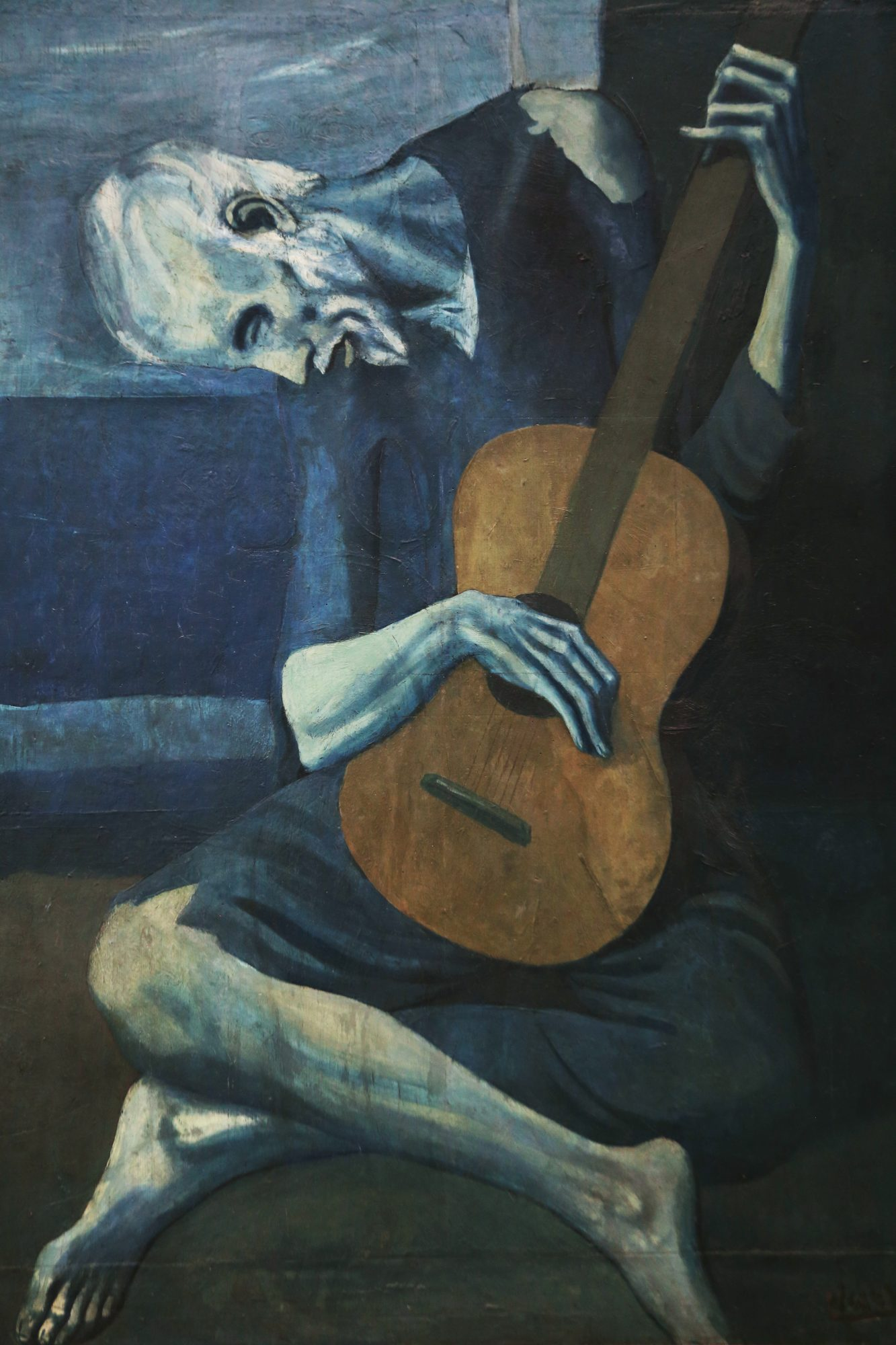 old_guitarist_chicago-pablo picasso- painting