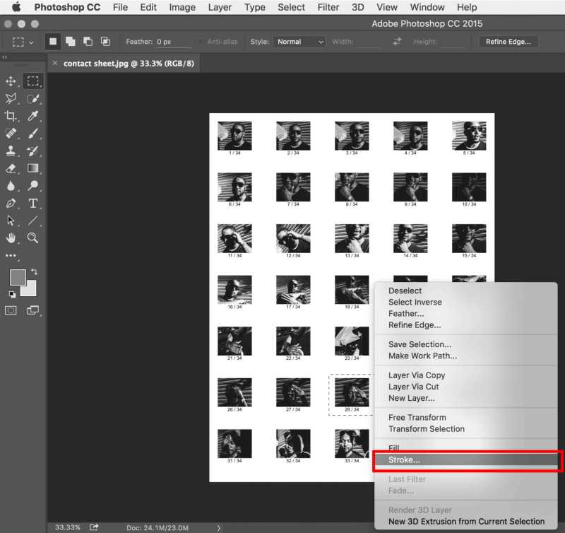 how to make a contact sheet without photoshop