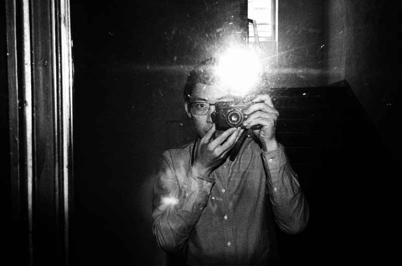eric kim self portrait leica flash