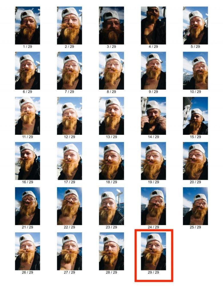 eric kim street photography portrait orange blue mission sf contact sheet