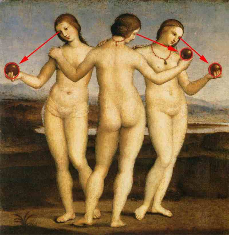 Raphael-Sanzio-The-Three-Graces-composition-three-eric-kim