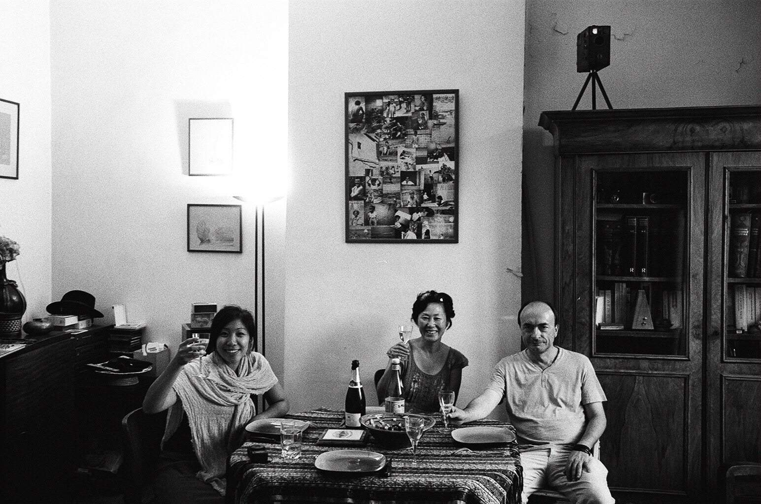 Marseille, 2015. Family portrait for dinner at the home of my friend Yves.