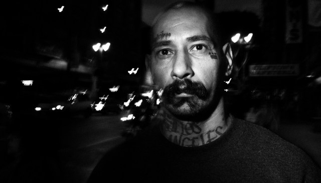 eric kim street photography - the city of angels - black and white-4-street-portrait-hearts-tattoo-downtown-la