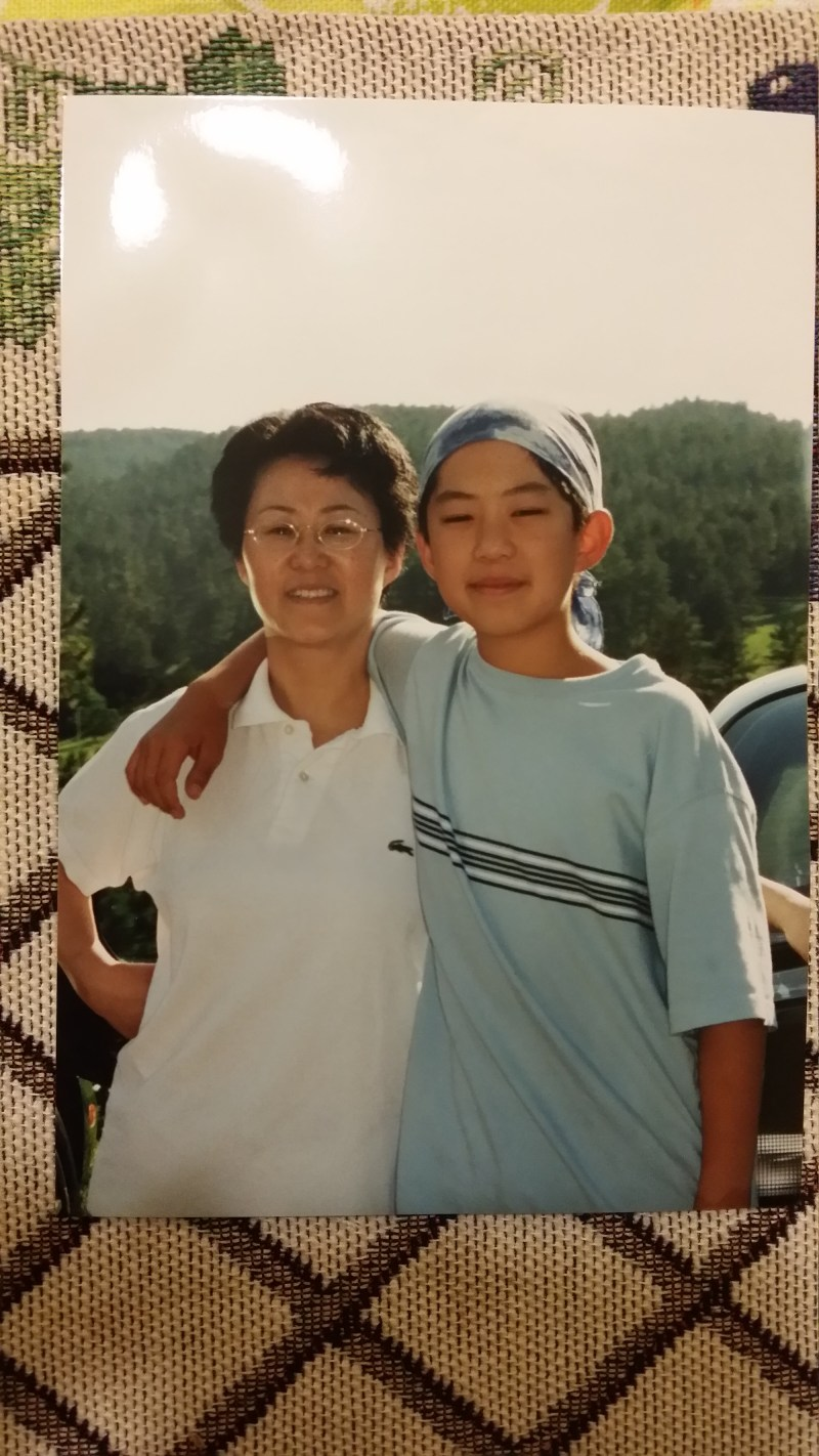 Me and my mom, when I was around 11 years old.