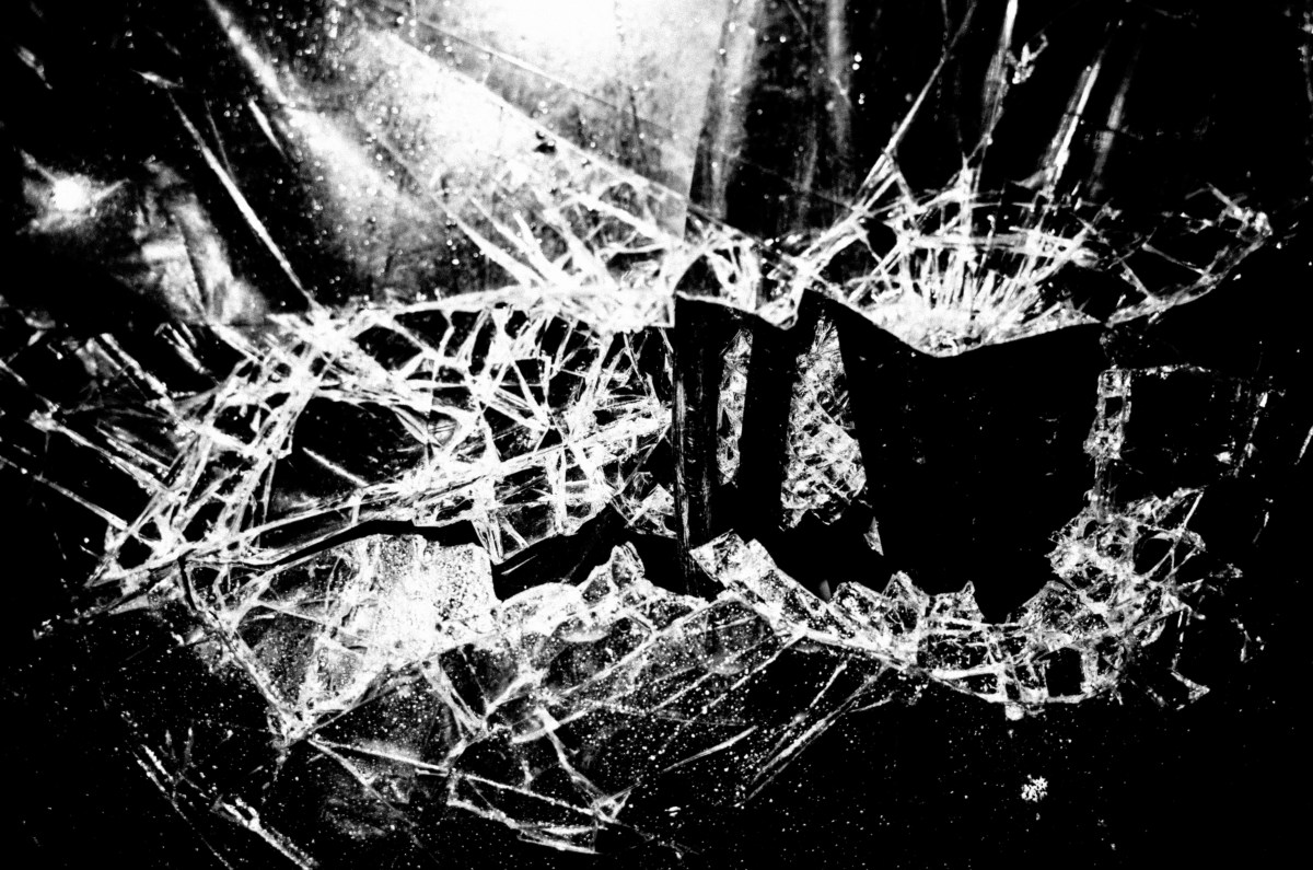 eric kim photography black and white glass broken