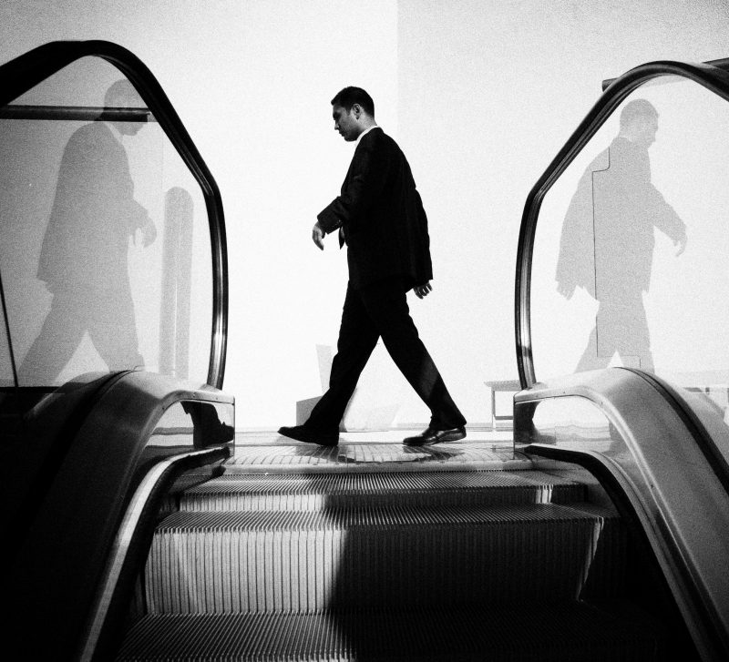 eric kim three men escalator square