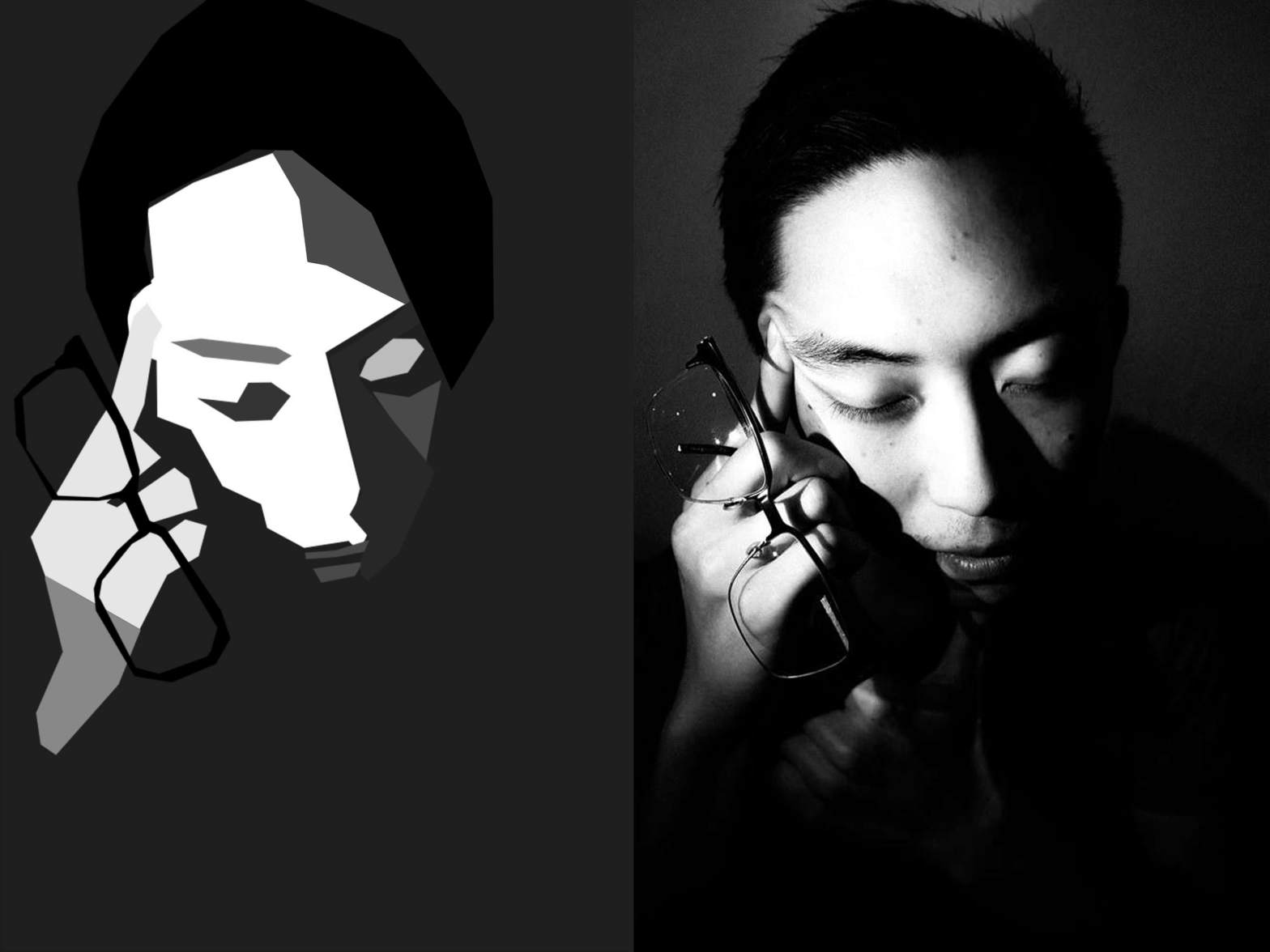 Eric Kim think 2-side by side eric kim cubist