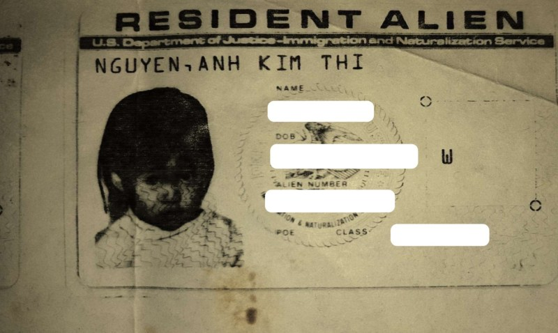 cindy a nguyen - nguyen anh kim thi photo - resident alien card