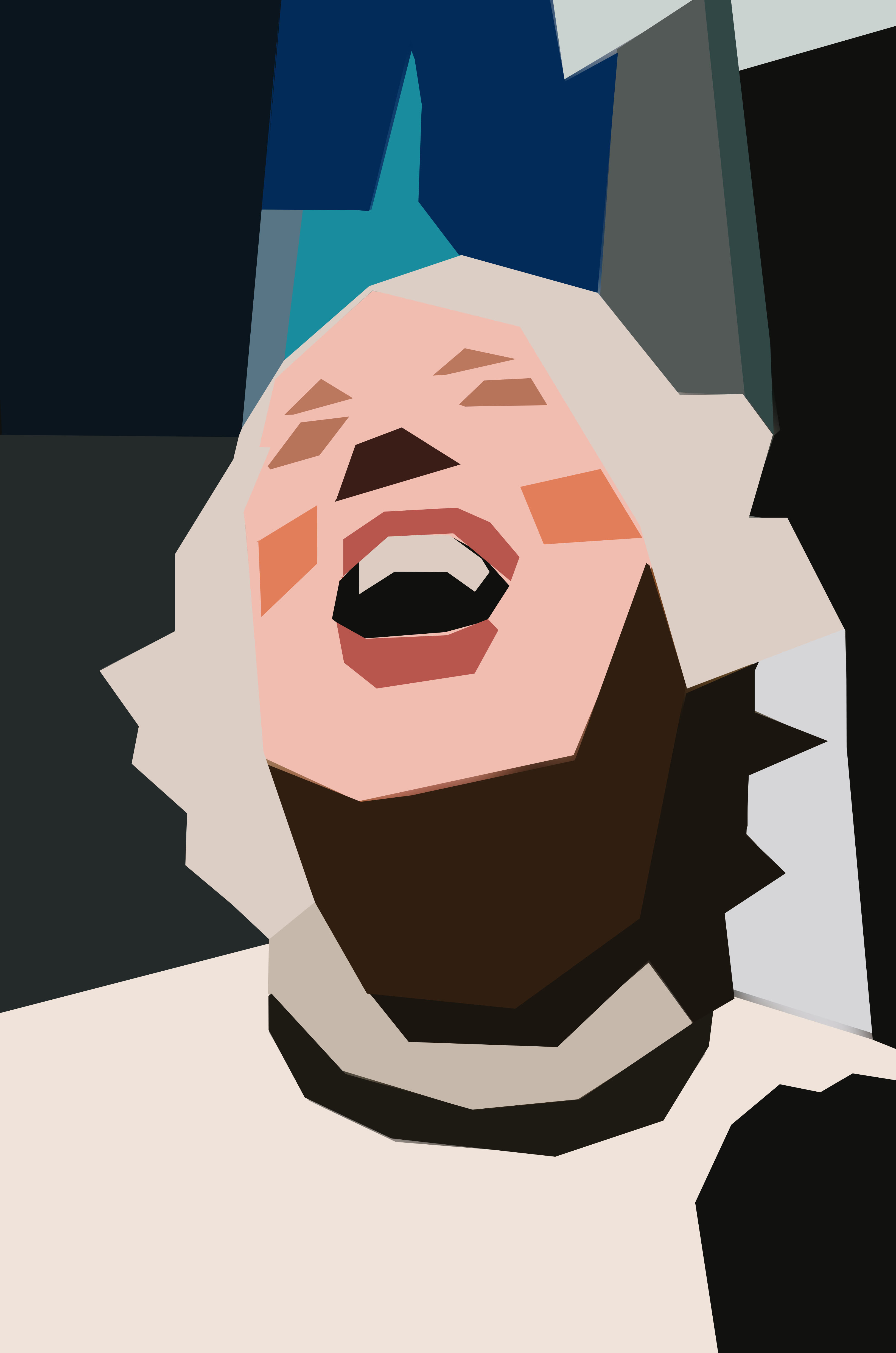 eric kim laughing lady cubist