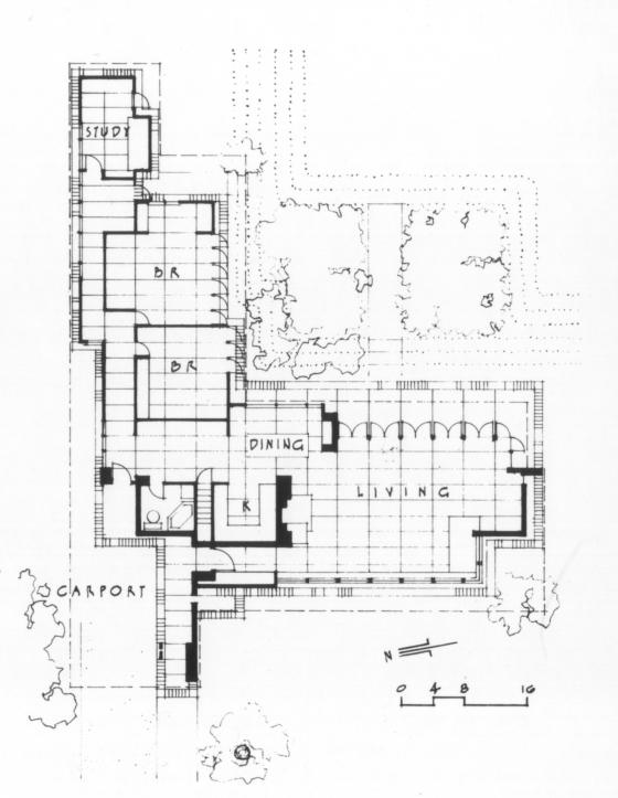 Usonian floor plan