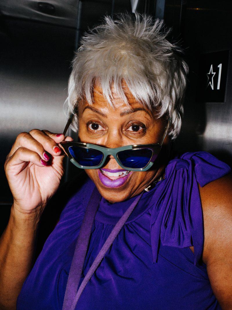 Purple lady. Downtown LA, 2016 #pentax645z