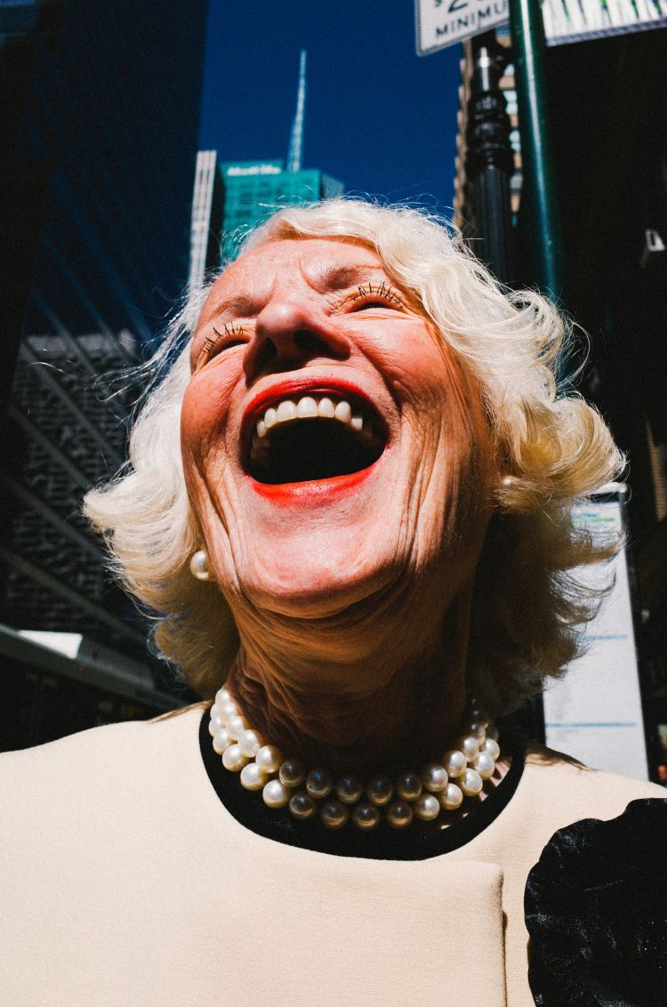 Laughing lady. NYC, 2015