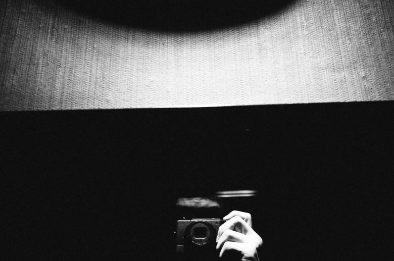 Selfie. Saigon, 2017. Minimalist negative space.