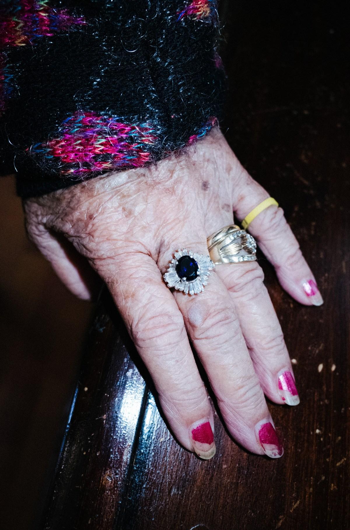 Cindy's grandmother hand. 2017.