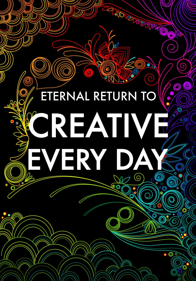 Cover for upcoming CREATIVE EVERYDAY book by HAPTICPRESS