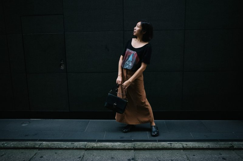 CINDY NGUYEN w/ TOKYOGLASS by HAPTICLABS / Cindy on the streets of Kyoto.