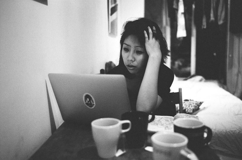 Stressed Cindy. Paris, 2015