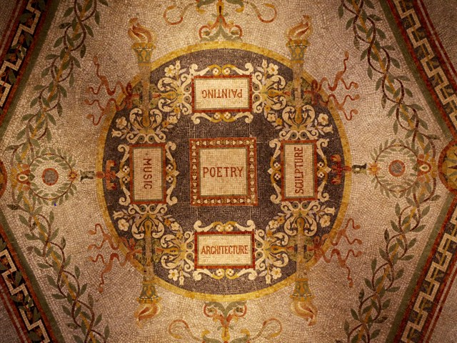 Poetry, painting, music, sculpture, architecture. Library of Congress ceiling