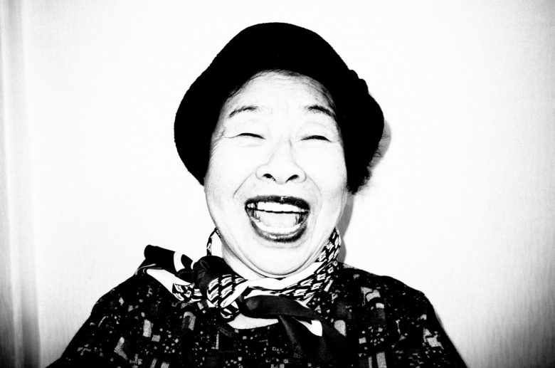 My grandma, laughing. Seoul, 2017.