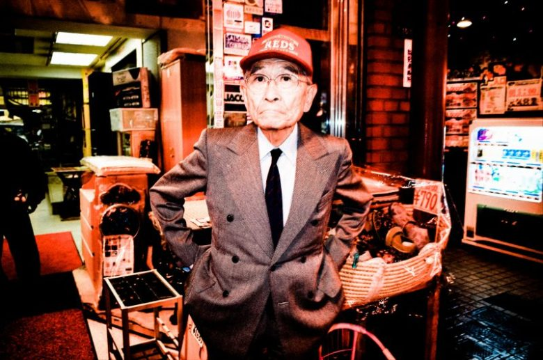 Man with red hat. Tokyo, 2017